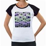 Block On Block, Purple Women s Cap Sleeve T