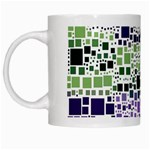 Block On Block, Purple White Mugs