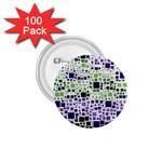 Block On Block, Purple 1.75  Buttons (100 pack)