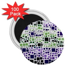 Block On Block, Purple 2 25  Magnets (100 Pack)  by MoreColorsinLife