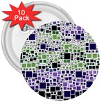 Block On Block, Purple 3  Buttons (10 pack)