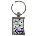 Block On Block, Purple Key Chains (Rectangle)