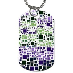 Block On Block, Purple Dog Tag (two Sides) by MoreColorsinLife