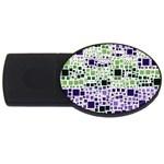 Block On Block, Purple USB Flash Drive Oval (2 GB)