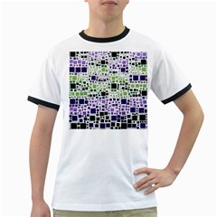 Block On Block, Purple Ringer T Shirts by MoreColorsinLife