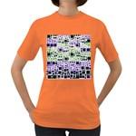 Block On Block, Purple Women s Dark T-Shirt