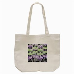 Block On Block, Purple Tote Bag (cream) by MoreColorsinLife