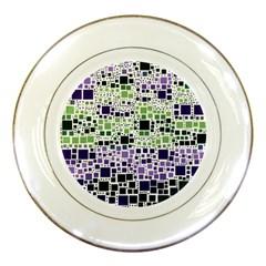 Block On Block, Purple Porcelain Plates by MoreColorsinLife