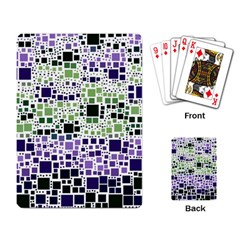 Block On Block, Purple Playing Card by MoreColorsinLife