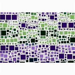 Block On Block, Purple Collage Prints by MoreColorsinLife