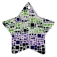 Block On Block, Purple Star Ornament (two Sides)  by MoreColorsinLife