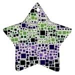 Block On Block, Purple Star Ornament (Two Sides)