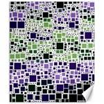 Block On Block, Purple Canvas 8  x 10