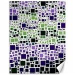 Block On Block, Purple Canvas 12  x 16