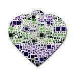 Block On Block, Purple Dog Tag Heart (One Side)