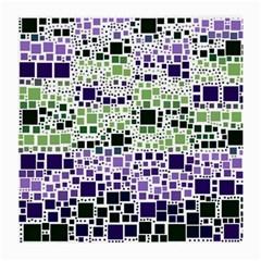 Block On Block, Purple Medium Glasses Cloth (2 Side) by MoreColorsinLife