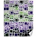 Block On Block, Purple Canvas 11  x 14