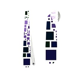 Block On Block, Purple Neckties (two Side)  by MoreColorsinLife
