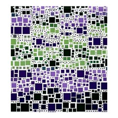 Block On Block, Purple Shower Curtain 66  X 72  (large)  by MoreColorsinLife