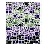 Block On Block, Purple Shower Curtain 60  x 72  (Medium)