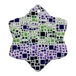 Block On Block, Purple Ornament (Snowflake)