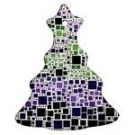 Block On Block, Purple Ornament (Christmas Tree)