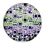 Block On Block, Purple Round Filigree Ornament (2Side)