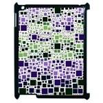 Block On Block, Purple Apple iPad 2 Case (Black)