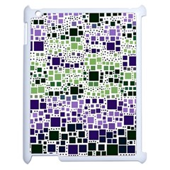 Block On Block, Purple Apple Ipad 2 Case (white) by MoreColorsinLife