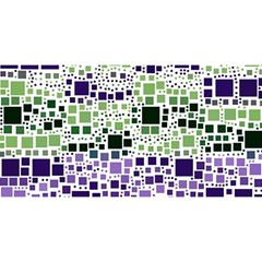 Block On Block, Purple You Are Invited 3d Greeting Card (8x4) by MoreColorsinLife