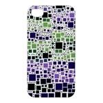 Block On Block, Purple Apple iPhone 4/4S Premium Hardshell Case