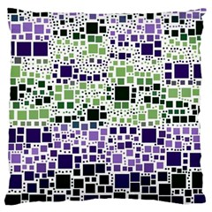 Block On Block, Purple Large Cushion Case (one Side) by MoreColorsinLife