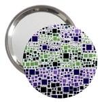 Block On Block, Purple 3  Handbag Mirrors