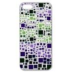 Block On Block, Purple Apple Seamless iPhone 5 Case (Clear)