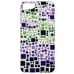 Block On Block, Purple Apple Iphone 5 Classic Hardshell Case by MoreColorsinLife