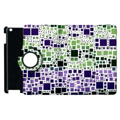 Block On Block, Purple Apple Ipad 2 Flip 360 Case by MoreColorsinLife