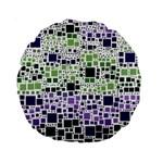 Block On Block, Purple Standard 15  Premium Round Cushions