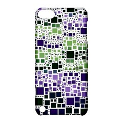 Block On Block, Purple Apple Ipod Touch 5 Hardshell Case With Stand by MoreColorsinLife