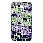 Block On Block, Purple Samsung Galaxy Mega 5.8 I9152 Hardshell Case