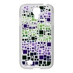 Block On Block, Purple Samsung GALAXY S4 I9500/ I9505 Case (White)
