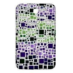 Block On Block, Purple Samsung Galaxy Tab 3 (7 ) P3200 Hardshell Case  by MoreColorsinLife