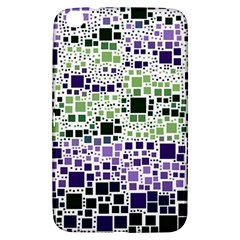 Block On Block, Purple Samsung Galaxy Tab 3 (8 ) T3100 Hardshell Case  by MoreColorsinLife