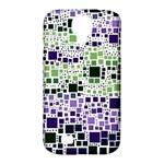 Block On Block, Purple Samsung Galaxy S4 Classic Hardshell Case (PC+Silicone)