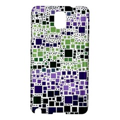 Block On Block, Purple Samsung Galaxy Note 3 N9005 Hardshell Case by MoreColorsinLife