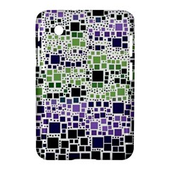 Block On Block, Purple Samsung Galaxy Tab 2 (7 ) P3100 Hardshell Case  by MoreColorsinLife