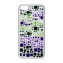 Block On Block, Purple Apple Iphone 5c Seamless Case (white) by MoreColorsinLife