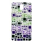 Block On Block, Purple Samsung Galaxy Note 3 N9005 Hardshell Back Case