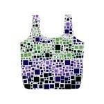 Block On Block, Purple Full Print Recycle Bags (S)