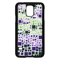 Block On Block, Purple Samsung Galaxy S5 Case (black) by MoreColorsinLife