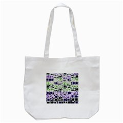 Block On Block, Purple Tote Bag (white) by MoreColorsinLife